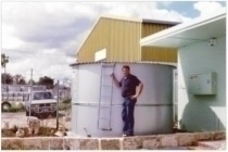 small domestic water tank