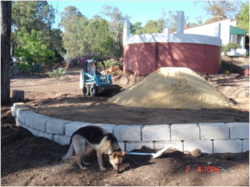 residential water tank sandpad